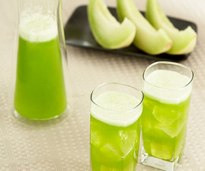 green, melon, and drink image