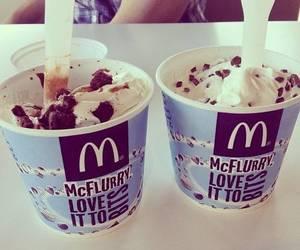 ice cream, food, and McDonalds image