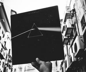 album, black and white, and Pink Floyd image