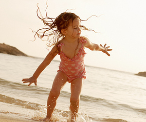 baby, sea, and cute image