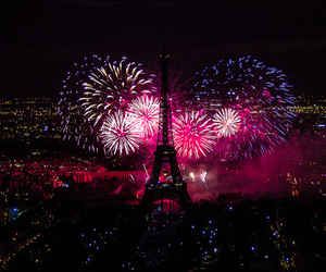 beauty, eiffel tower, and fireworks image