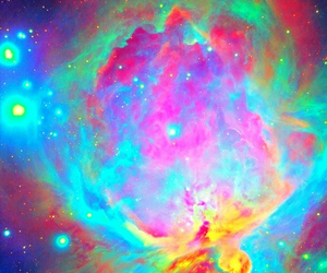 galaxy, space, and colours image