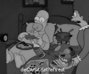 diet, food, and simpsons image