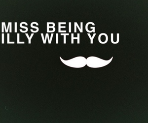 silly, mustache, and miss image