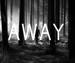away, alone, and black and white image