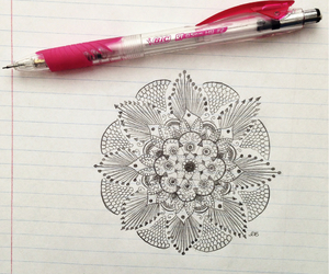 drawing, beautiful, and flower image