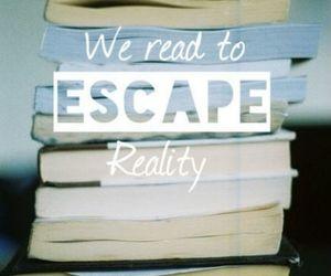 book, escape, and read image