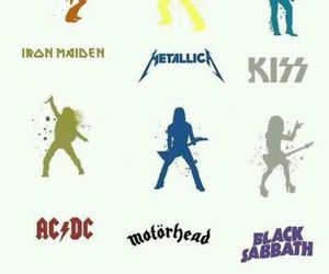 ACDC, Black Sabbath, and kiss image