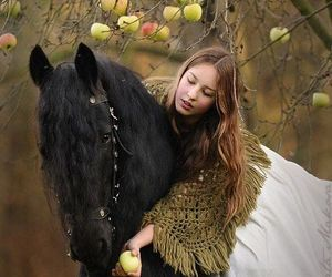 horse and woman image