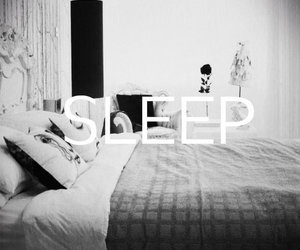 bed, sleep, and black and white image