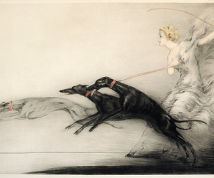 dog, louis icart, and painting image