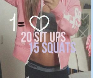 squats, sit ups, and fitness image