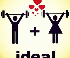 love, ideal, and fitness image