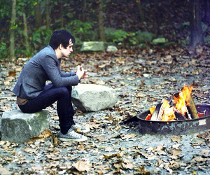 brendon urie, panic! at the disco, and fire image