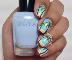 nails and palm trees image