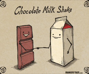 chocolate, milk, and funny image