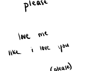 love, please, and text image