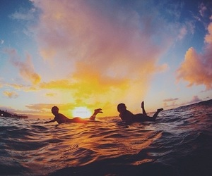 summer, surf, and sunset image