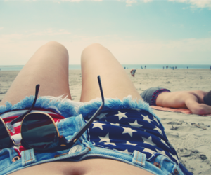 beach, summer, and shorts image