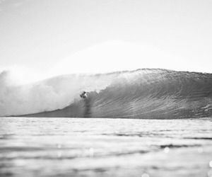 b&w, surfing, and black and white image