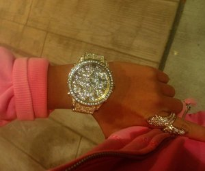 watch, pink, and ring image