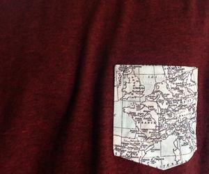 map, pocket, and t-shirt image