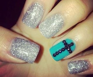 nails, cross, and blue image