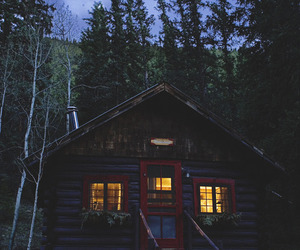forest, house, and rustic image
