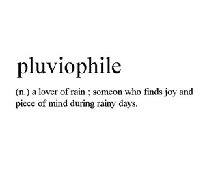 quotes, rain, and pluviophile image