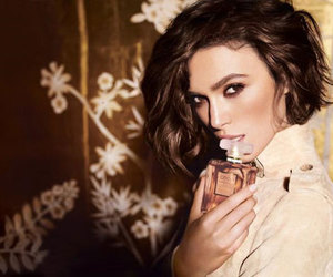 chanel, keira knightley, and perfume image