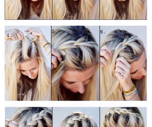 blonde, hair do, and hair image