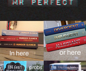book, divergent, and perfect image