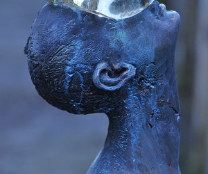sculpture, art, and blue image
