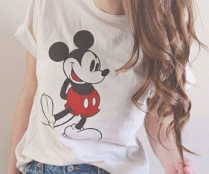 fashion, mickey mouse, and hair image