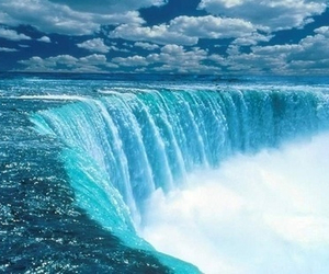 blue, nature, and waterfall image