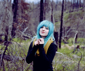 blue hair, girl, and charlavail image