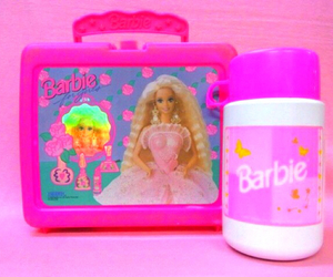 barbie, pink, and 90s image