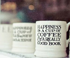 black and white, happiness, and cup image