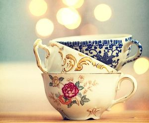 lights, photography, and tea cups image
