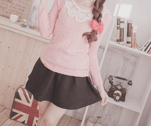 cute, kfashion, and pink image