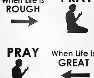 pray, god, and life image