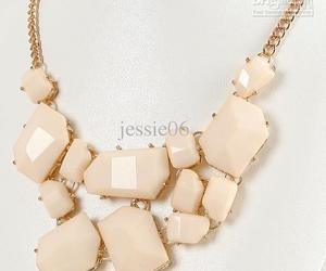 gold chain, necklace, and peach image