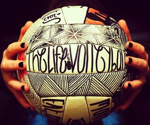 volleyball, life, and ball image