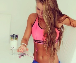 girl, fitness, and workout image