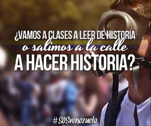 calle, freedom, and sosvenezuela image