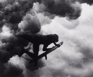 b&w, surfers, and surfing image