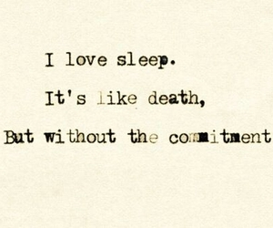 sleep, quote, and death image