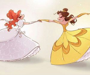disney, belle, and giselle image