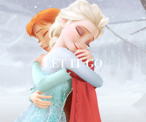 frozen, anna, and let it go image