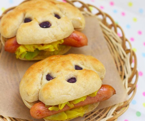 food, dog, and hot dog image
